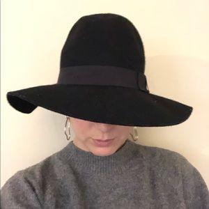 Kendall & Kylie Black Wool Floppy Hat